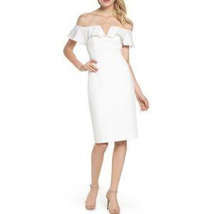 Vince Camuto Off The Shoulder White Dress